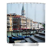 Venice Gondolas On Canal Grande Shower Curtain