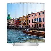 Venice Grand Canal View Italy Sunny Day Shower Curtain