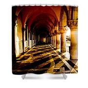 Venice Hallway In The Morning Shower Curtain