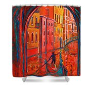 Venice Impression Viii Shower Curtain by Xueling Zou