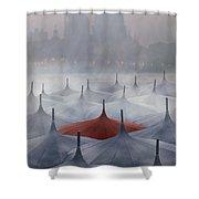 Venice In Rain Shower Curtain