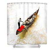 Venice Italy Gondola Shower Curtain