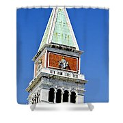 Venice Italy - St Marks Square Tower Shower Curtain
