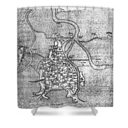Venice: Map, 12th Century Shower Curtain