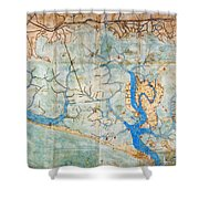 Venice: Map, 1546 Shower Curtain