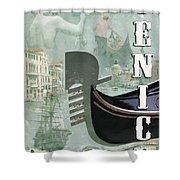 Venice Montage 2 Shower Curtain