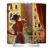 Venice Morning. Shower Curtain