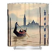 Venice San Giorgio Island Shower Curtain
