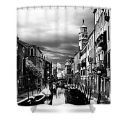 Venice Side Canal Shower Curtain