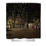 Venice Square At Night Shower Curtain