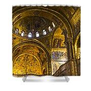 Venice - St Marks Basilica Interior Shower Curtain
