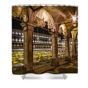 Venice St Mark's Square At Night Shower Curtain