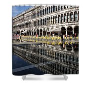 Venice Italy - St Mark's Square Symmetry Shower Curtain