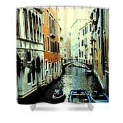 Venice Street Scene Shower Curtain