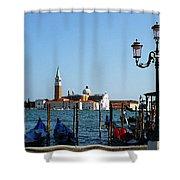 Venice View On Basilica Di San Giorgio Maggiore Shower Curtain