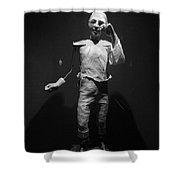 Ventriloquist Shower Curtain