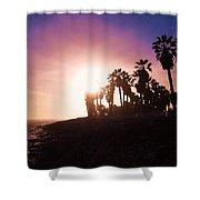 Ventura Beach Sunset Shower Curtain