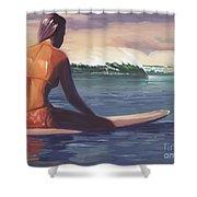 Ventura Surfer Girl Shower Curtain