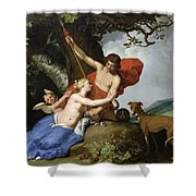 Venus And Adonis Shower Curtain