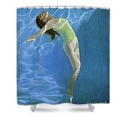 Venus Goes H2o  Shower Curtain