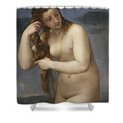 Venus Rising From The Sea Shower Curtain