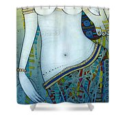 Venus With Doves Shower Curtain