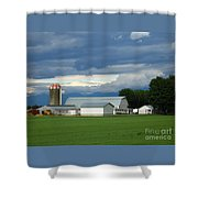 Verdant Farmland Shower Curtain