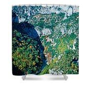 Verdon Gorge In Autumn Shower Curtain