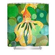 Vermilion Goldfish Shower Curtain
