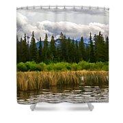 Vermilion Lakes Shower Curtain