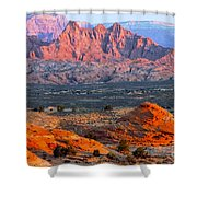 Vermillion Cliffs At Sunrise Shower Curtain