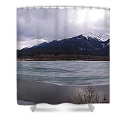 Vermillion Lakes, Banff National Park - Panorama Shower Curtain