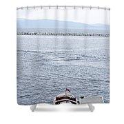 Vermont Boat Pier Shower Curtain