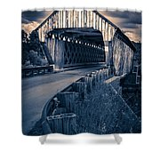Vermont Covered Bridge In Moonlight Shower Curtain