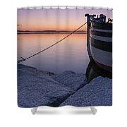 Vermont Lake Champlain Sunset Nautical Boat  Shower Curtain