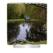 Vermont Pond In Autumn Shower Curtain
