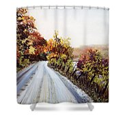 Vermont Road Shower Curtain