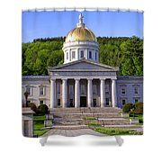 Vermont State Capitol In Montpelier  Shower Curtain