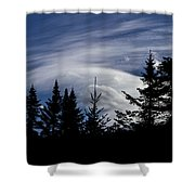 Vermont Tree Silhouette Clouds Cloudscape Shower Curtain