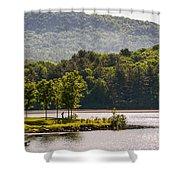 Vermonts Lake Fairlee Shower Curtain