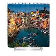 Vernazza Pomeriggio Shower Curtain by Inge Johnsson