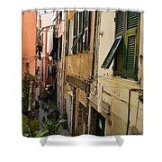 Vernazza Street Shower Curtain