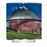 Vernon County Barn Shower Curtain