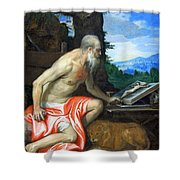 Veronese's Saint Jerome In The Wilderness Shower Curtain