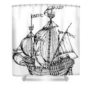 Verrazzano's Ship Shower Curtain