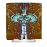 Vertebrae I Shower Curtain