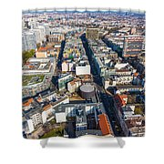 Vertical Aerial View Of Berlin Shower Curtain