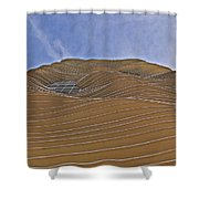 Vertical Dune - The Aqua Tower Shower Curtain