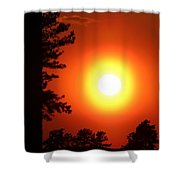 Very Colorful Sunset Shower Curtain