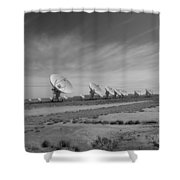 Very Large Array In Black And White Shower Curtain